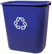 Rubbermaid recycle desk side wastebasket