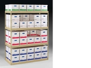 Record Archive Shelving with Archive Boxes